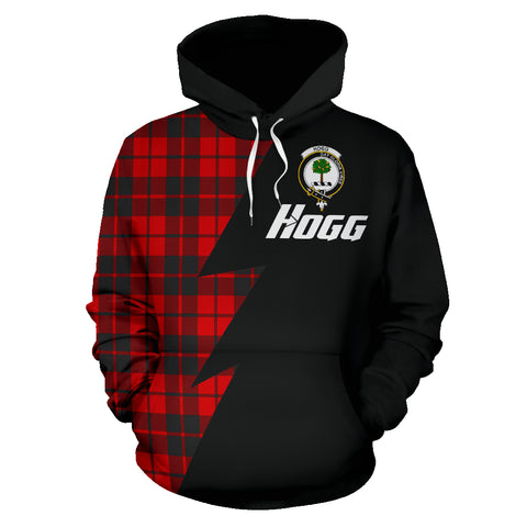 Tartan All Over Hoodie - Hogg Clans Badge - BN