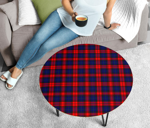 Image of MacLachlan Modern Tartan Circular Coffee Table - BN