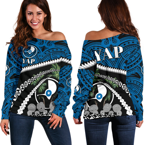 Yap Women Off Shoulder Sweater - Road to Hometown K4
