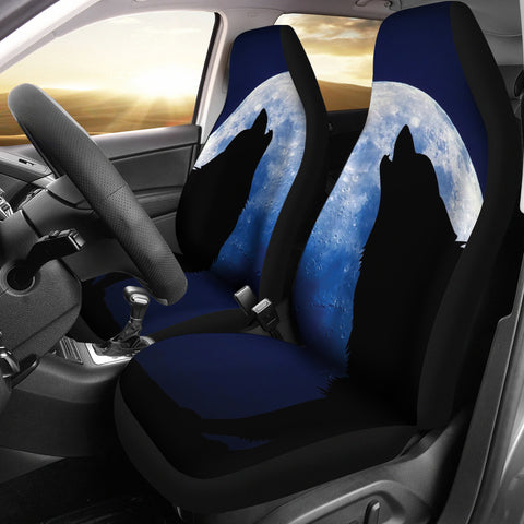 Image of Wolf Howling Car Seat Covers K5