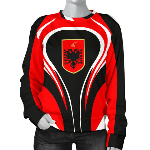 Albania Flag Women's Sweater Cannon Style