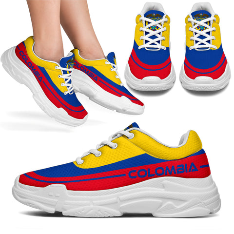 Colombia Chunky Sneakers, Colombia Flag, Colombian, Shoe, Colombia Shoe