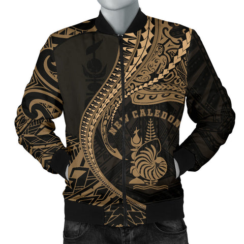 Image of New Caledonia Men's Bomber Jacket Kanaloa Tatau Gen NC (Gold)