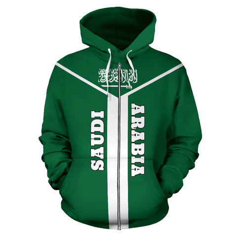 Saudi Arabia Rising Zip Hoodie | Men & Women | Clothing
