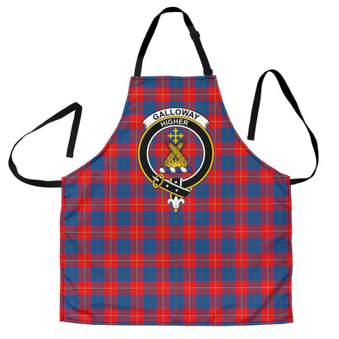 Image of Galloway Red Tartan Clan Crest Apron