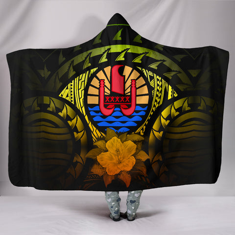 Image of Tahiti Reggae Hibiscus Hooded Blanket | Special Custom Design