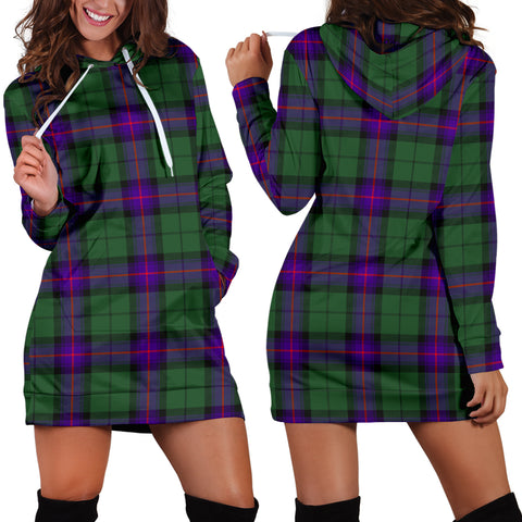 Image of Armstrong Modern Tartan Hoodie Dress HJ4
