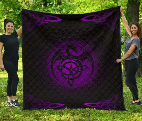 Celtic Premium Quilt - Celtic Dragon - Purple | 1sttheworld
