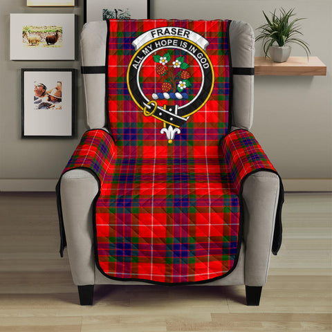 Image of Fraser Modern Tartan Clan Badge Sofa Protector