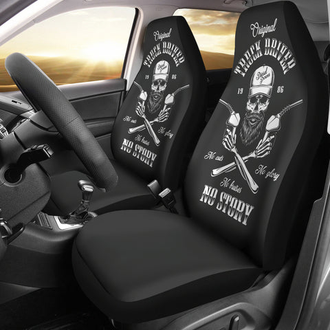 Skull Driver Car Seat Cover - skull car seat covers, car seat covers,seat covers,custom seat covers,custom car seat covers,car decoration,car accessories,car accessories online,cool car accessories, online shopping, trucker seat covers