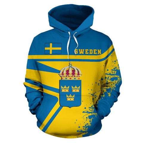 Image of Sweden Hoodie Painting Style | 1sttheworld.com