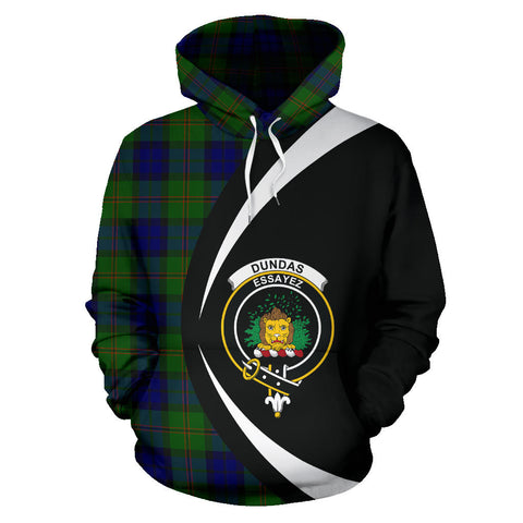 (Custom your text) Dundas Modern Tartan Circle Hoodie
