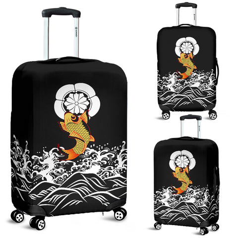 The Golden Koi Fish Luggage Covers A7