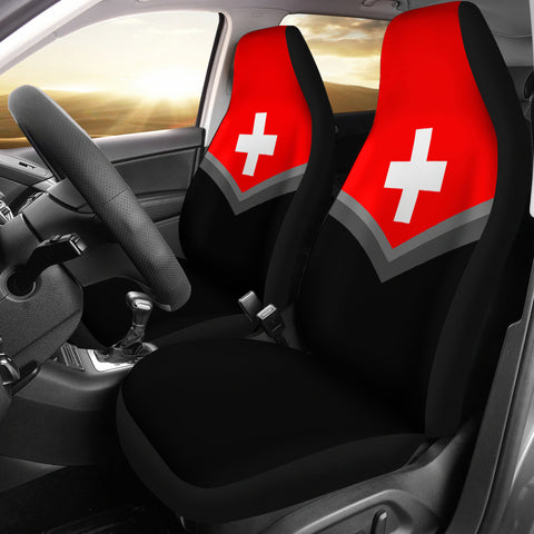 Switzerland Flag Car Seat Cover