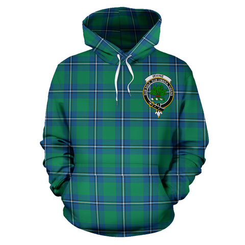 Image of Irvine Tartan Clan Badge Hoodie HJ4