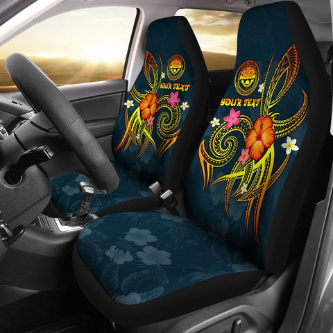 Federated States of Micronesia Polynesian Personalised Car Seat Covers - Legend of FSM (Blue)