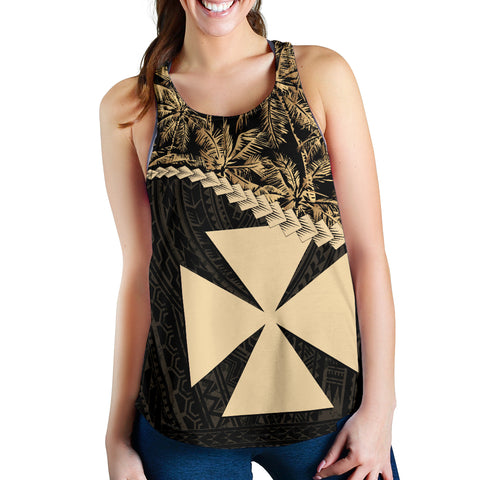 Wallis And Futuna Women's Racerback Tank Golden Coconut | Love The World