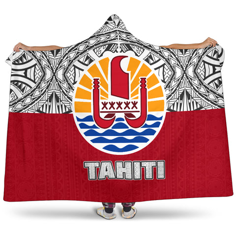tahiti, polynesian, french polynesian, coat of arm, tahiti hooded blanket, hooded blanket, hooded blanket