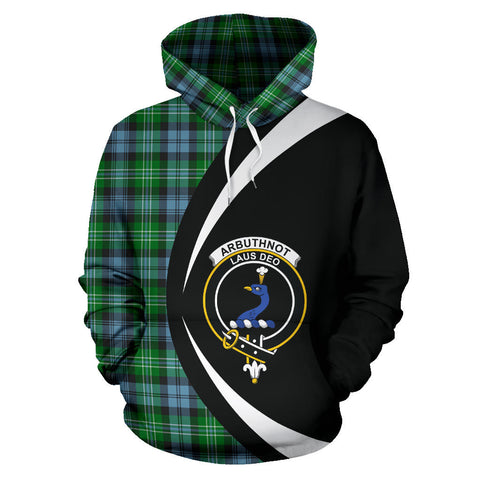 (Custom your text) Arbuthnot Ancient Tartan Circle Hoodie