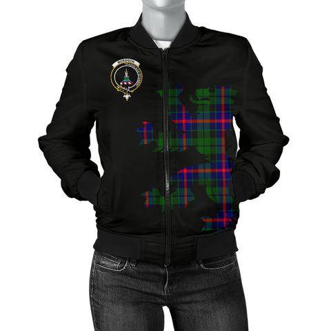 Image of Morrison Tartan Lion And Thistle Bomber Jacket  for Women