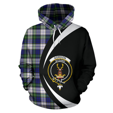 Image of (Custom your text) Gordon Dress Modern Tartan Circle Hoodie