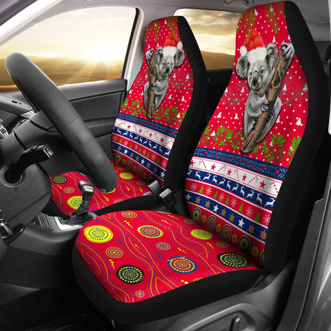 Australia Christmas Aboriginal Car Seat Covers Koala Version 1 | 1sttheworld