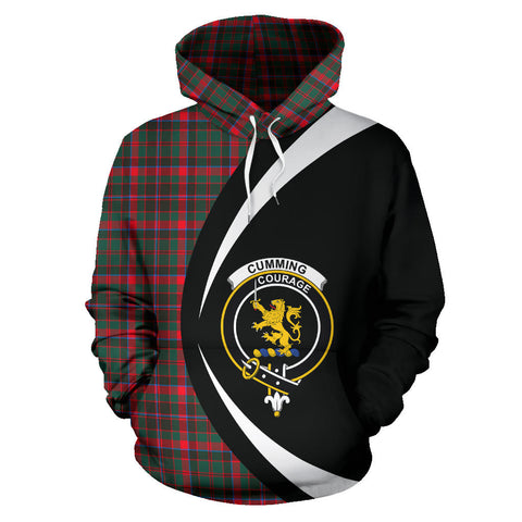 (Custom your text) Cumming Hunting Modern Tartan Circle Hoodie