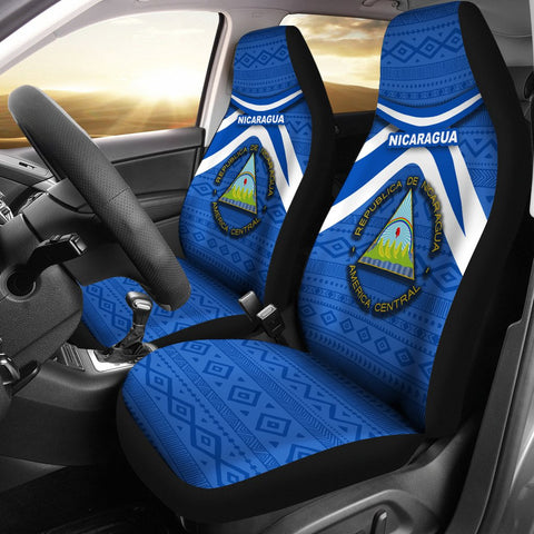 Nicaragua Car Seat Covers  - Vibes Version K8