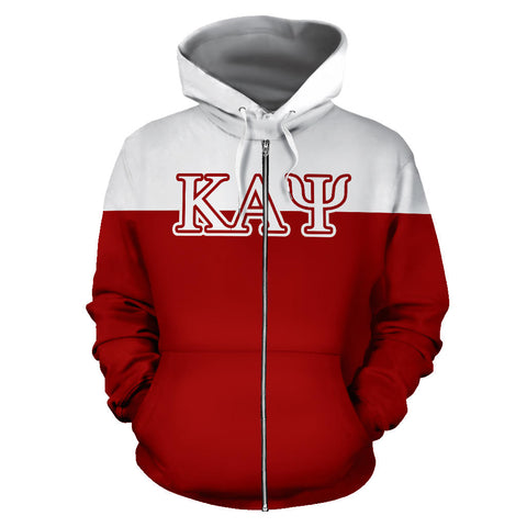 Kappa Alpha Psi All Over Zip-Up Hoodie - Mascot - BN01