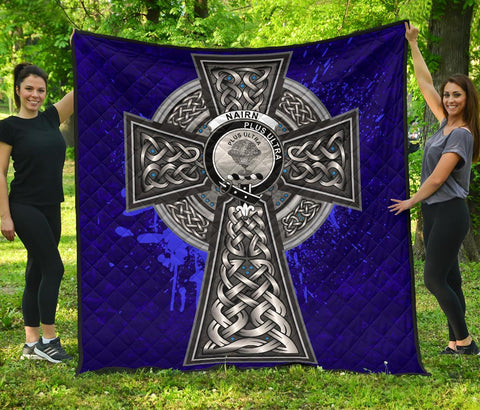 Nairn Crest Scottish Celtic Cross Scotland Quilt | Home Set | Over 300 Clans