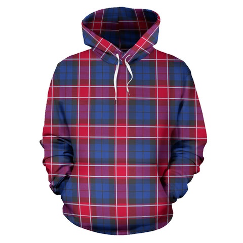 Graham Of Menteith Red Tartan Hoodie HJ4