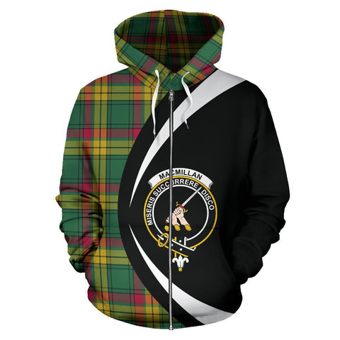 MacMillan Old Ancient Tartan Circle Zip Hoodie