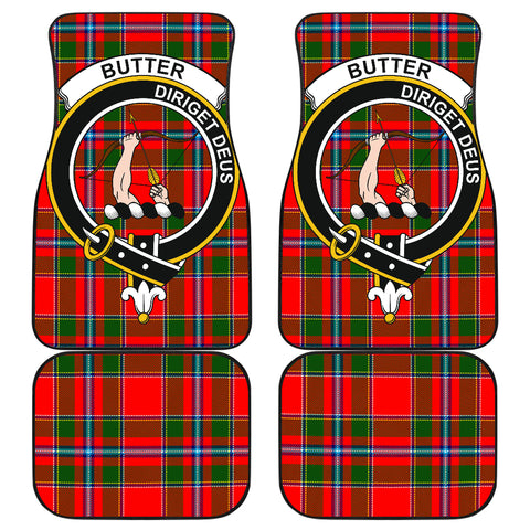 Butter  Tartan Clan Badge Car Floor Mat 4 Pieces K7