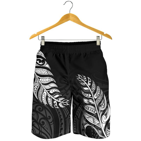 1stTheWorld Custom Aotearoa New Zealand - Maori Silver Fern Men's Shorts Black A10