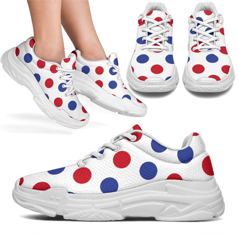 Image of France Chunky Sneakers - Francais Polka Dots Basic