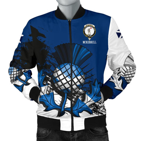 McKerrell Crest Scottish Thistle Scotland Men's Bomber Jacket | Clothing | 1sttheworld