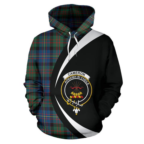 (Custom your text) Cameron of Erracht Ancient Tartan Circle Hoodie