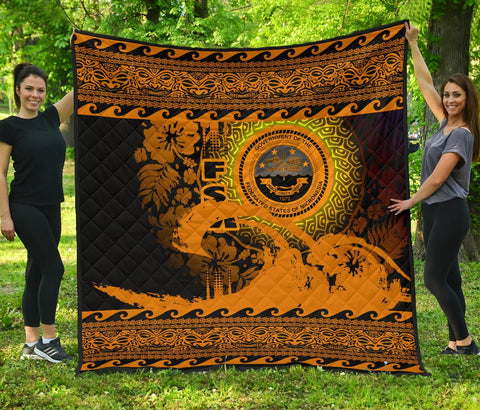 Federated States Of Micronesia Quilt Wave Gold Design K62