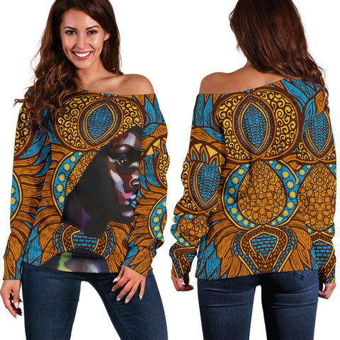 Image of The Black Women's Off Shoulder Sweater - BH