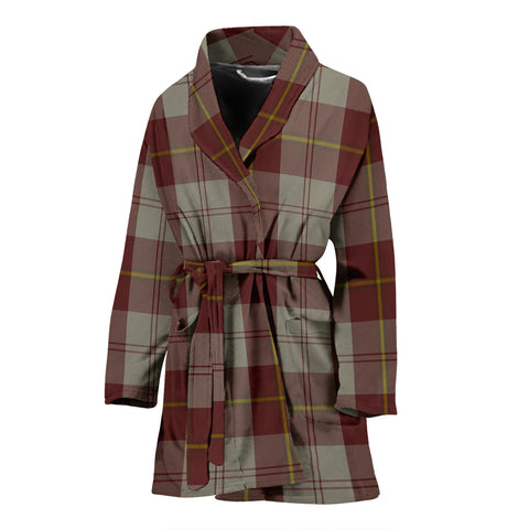 Cunningham Burgundy Dancers Tartan Women's Bath Robe