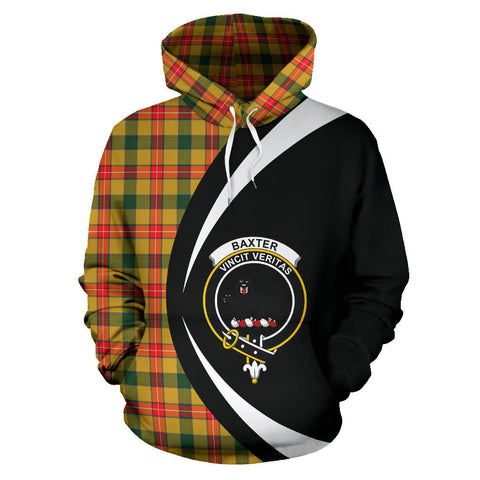 Image of (Custom your text) Baxter Tartan Circle Hoodie