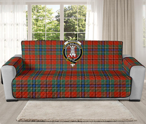 Image of MacLean of Duart Ancient Tartan Clan Badge Oversized Sofa Protector