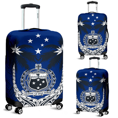 Samoa Polynesian Coconut Luggage Covers (Blue) | Love the World
