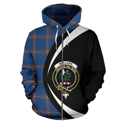 MacLaine of Loch Buie Hunting Ancient Tartan Circle Zip Hoodie