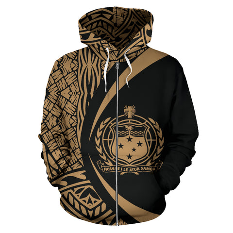 Samoa Polynesian Zip-up Hoodie - Circle Style