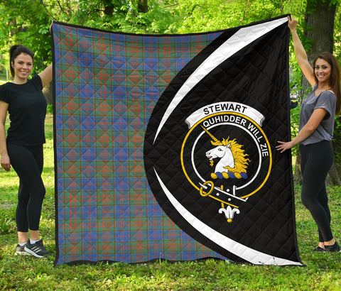 Stewart of Appin Hunting Ancient Tartan Premium Quilt Circle Style