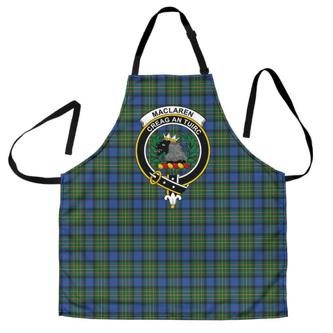 Image of MacLaren Ancient Tartan Clan Crest Apron