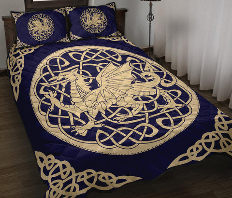Wales Quilt Bed Set - Welsh Dragon Quilt Bed 02 - BN02