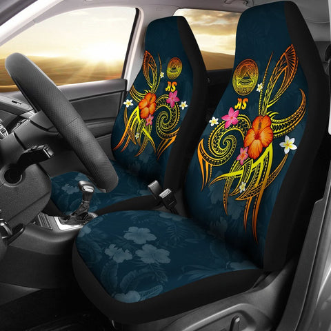 American Samoa Polynesian Car Seat Covers - Legend of American Samoa (Blue)