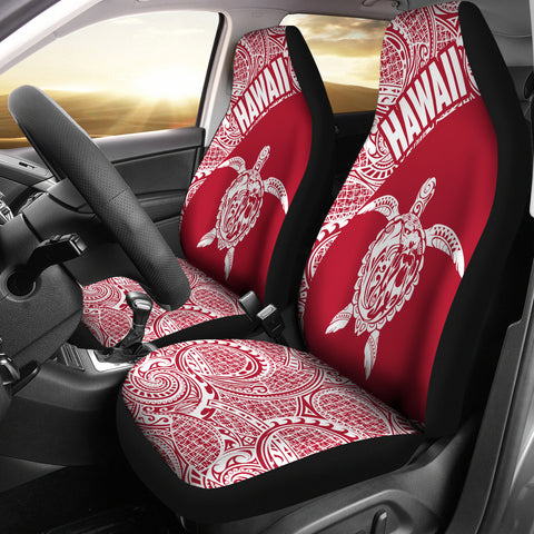 Hawaii Car Seat Covers Turtle Polynesian White Red Version Th96